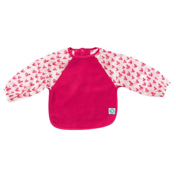 All4Ella Long Sleeve Bib - Pink Hearts