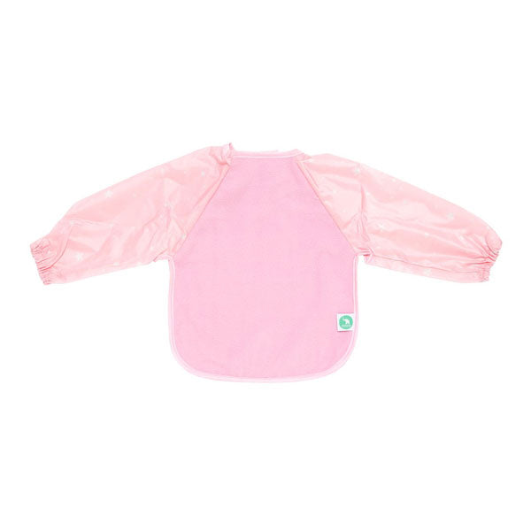 All4Ella Long Sleeve Bib - Star Pink