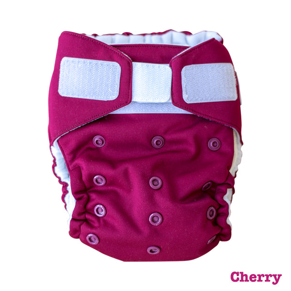 Baby BeeHinds Magic-All-in-Two Cloth Nappy - Solid Brights - Cherry