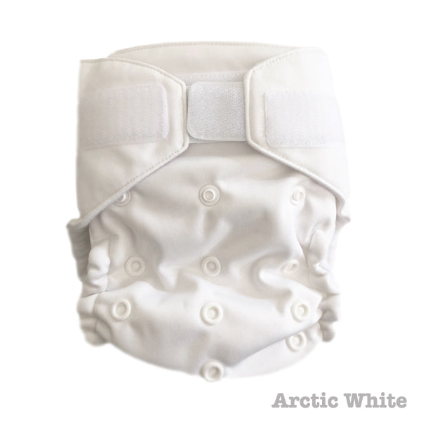 Baby BeeHinds Magic-All-in-Two Cloth Nappy - Solid Brights - Arctic White