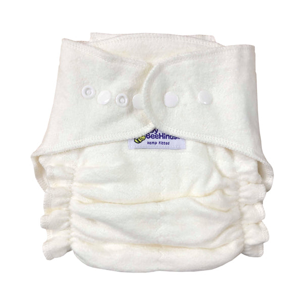Baby BeeHinds Hemp Fitted Cloth Nappy