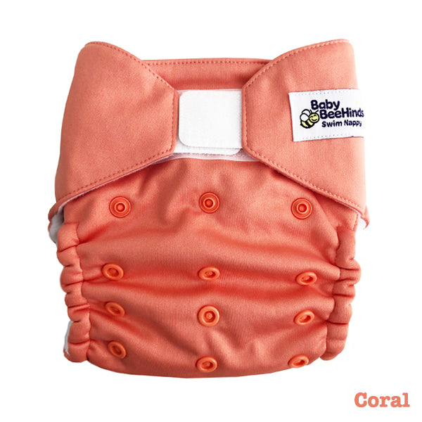 Baby BeeHinds Swim Nappy - Coral