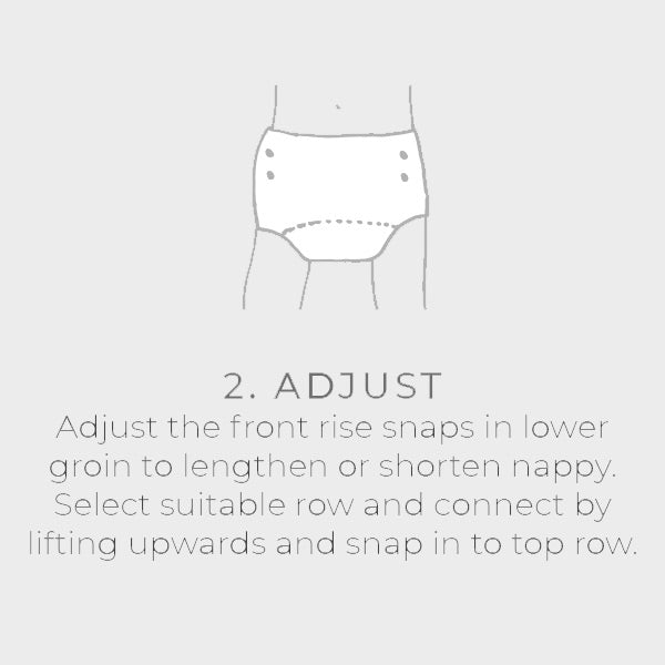 Bare and Boho Swim Nappy - Swim Nappies Fitting Guide 2