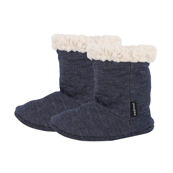 Bedhead Fleecy Baby Booties - Denim