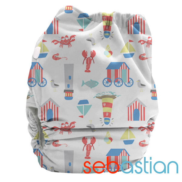 Bubblebubs BoPeep AI2 Newborn Complete Cloth Nappy - PUL - Limited Edition - Sebastian