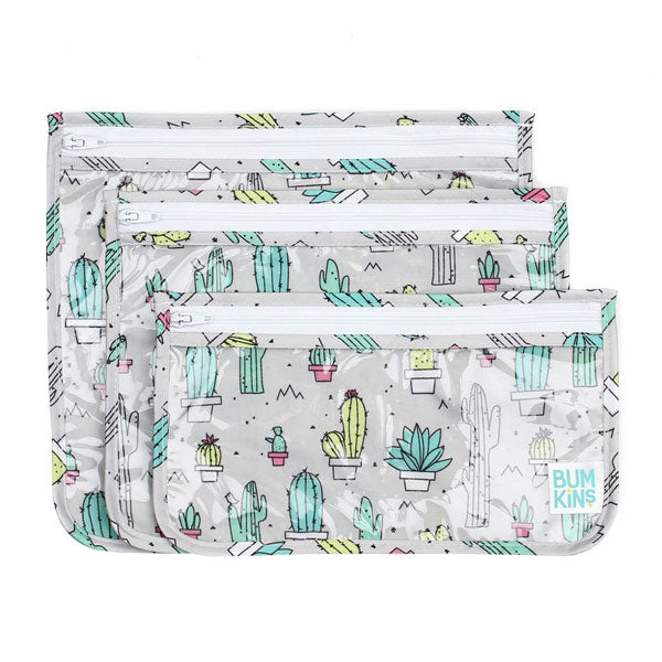 Bumkins Clear Travel Bags - Cacti