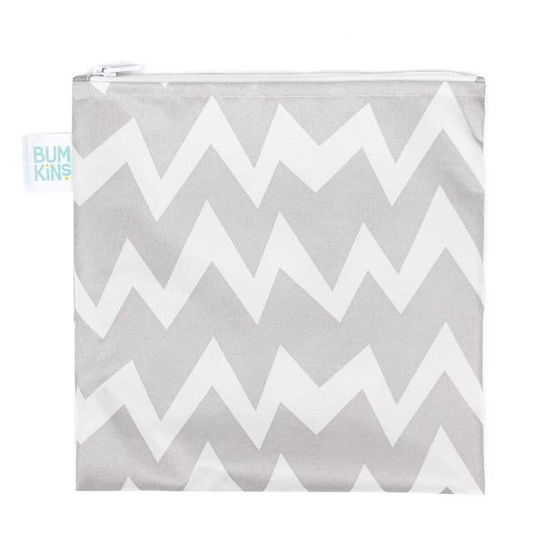 Bumkins Large Snack Bag - Grey Chevron