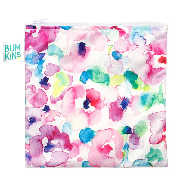 Bumkins Large Snack Bag - Watercolour