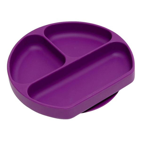 Bumkins Silicone Grip Dish - Purple