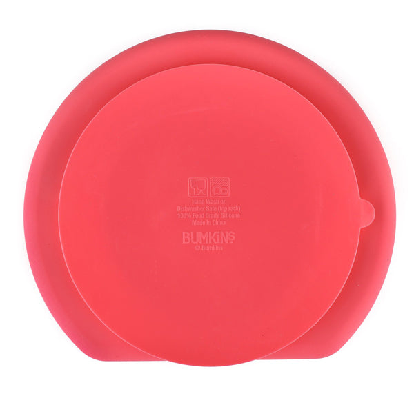 Bumkins Silicone Grip Dish - Red