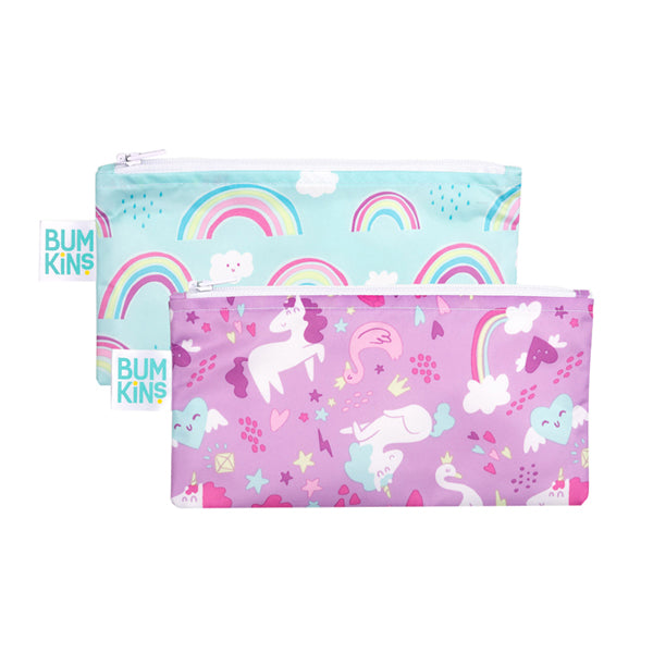 Bumkins Small Snack Bags - Unicorn/Rainbow