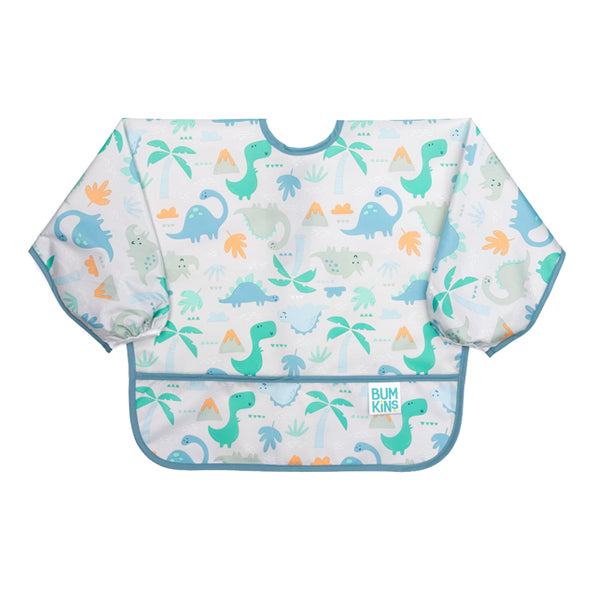 Bumkins Waterproof Sleeved Bib - Dinosaurs