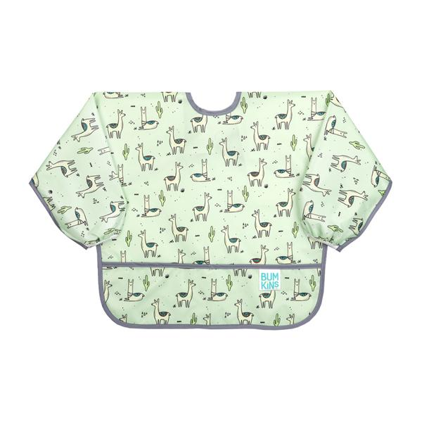 Bumkins Waterproof Sleeved Bib - Llamas