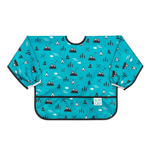 Bumkins Waterproof Sleeved Bib - Outdoors