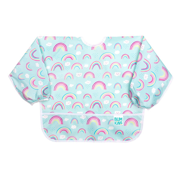Bumkins Waterproof Sleeved Bib - Rainbows
