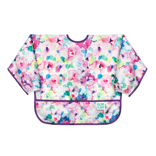 Bumkins Waterproof Sleeved Bib - Watercolour