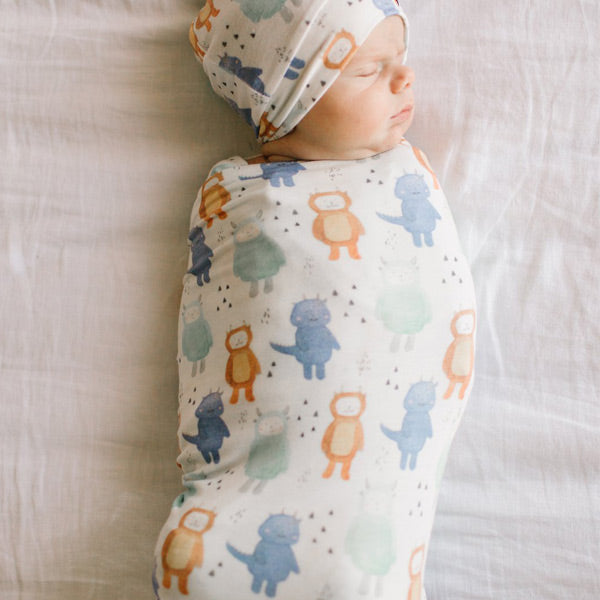 Copper Pearl Knit Swaddle Blanket - Max