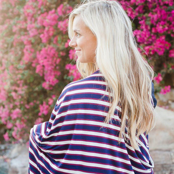 Covered Goods Four-in-One Nursing Cover - Nautical Stripe