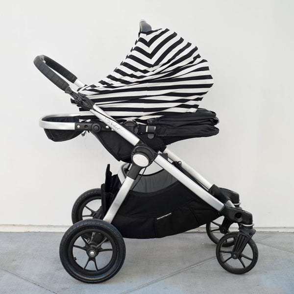 Covered Goods Four-in-One Nursing Cover - Classic Black & Ivory Stripe