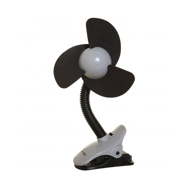 Dreambaby Ezy-Fit Clip-on Fan - Black