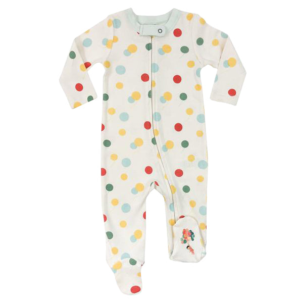 Finn and Emma Organic Cotton Footie - Emily Winfield Martin Collection - Balloons