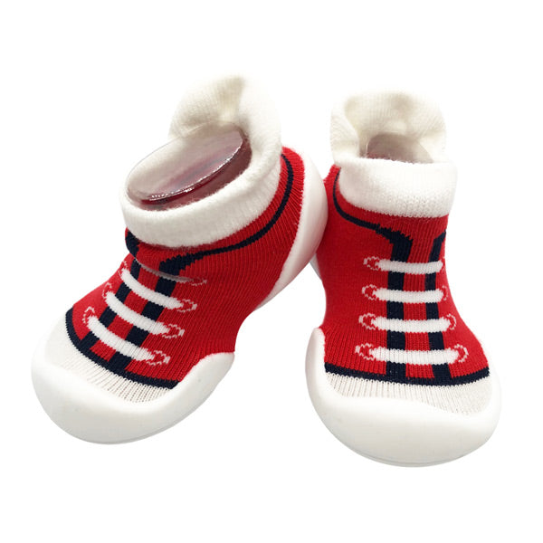 Ggomoosin First Walker Shoes - Canvas Red