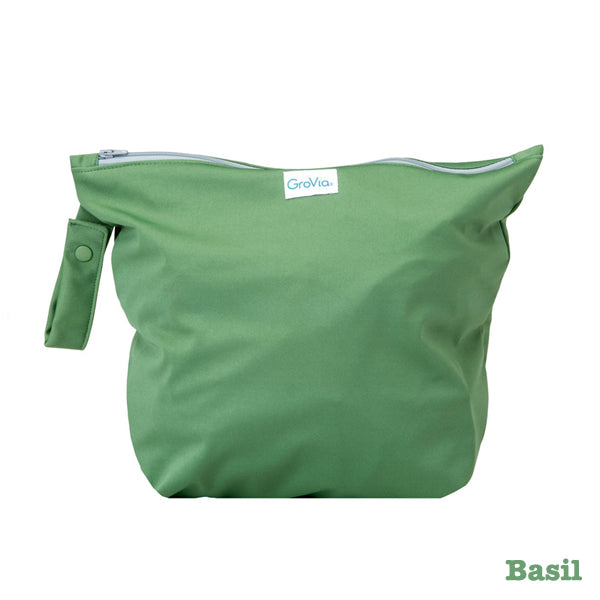 Grovia Zipped Wet Bag - Basil