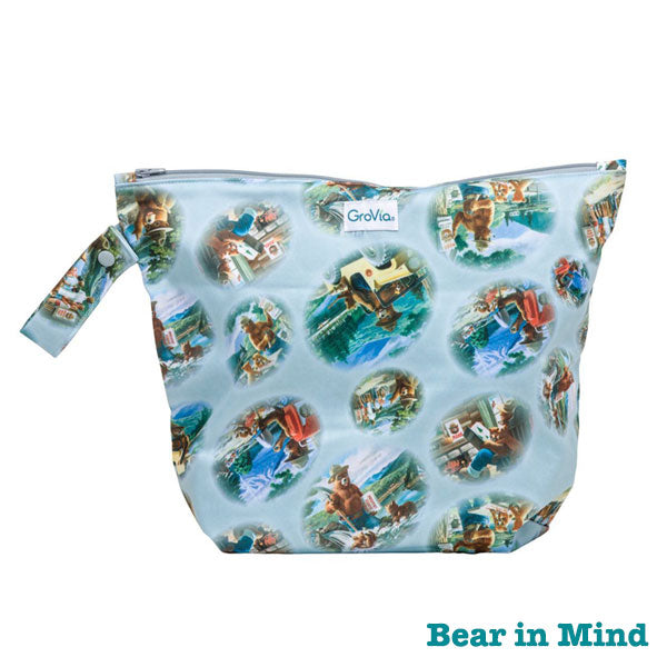 Grovia Zipped Wet Bag - Bear in Mind
