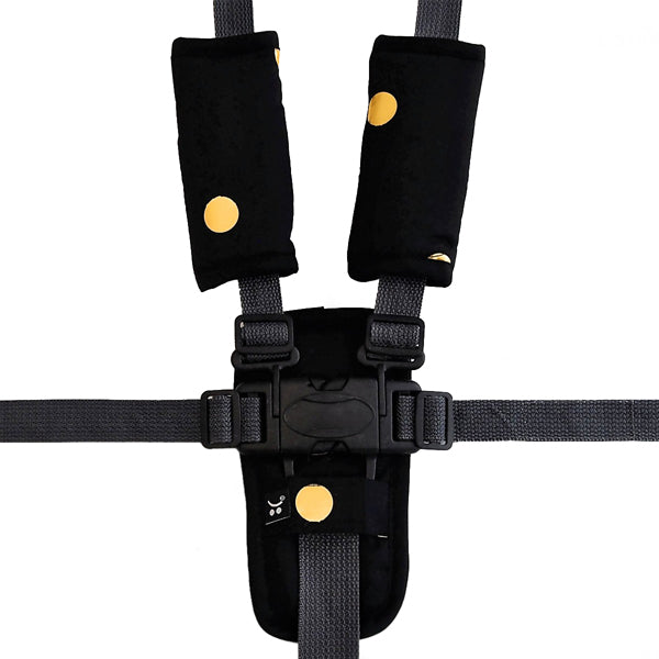 Outlook Get Foiled Harness Strap Cover Set - Black with Gold Spots
