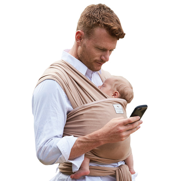 Hugabub Organic Lightweight Wrap Carrier - Latte