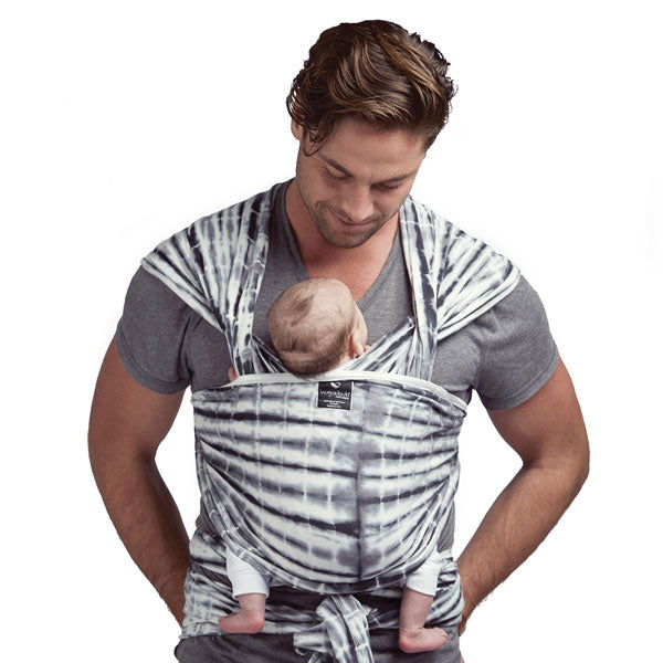 Hugabub Organic Lightweight Wrap Carrier - Watercolour Grey