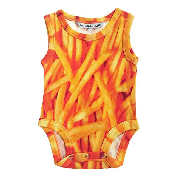 Inchworm Alley Organic Tank Bodysuit - French Fries