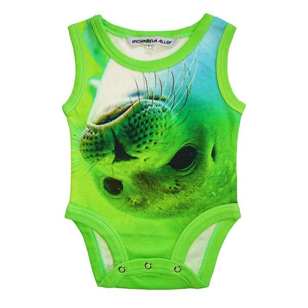 Inchworm Alley Organic Tank Bodysuit - Seal