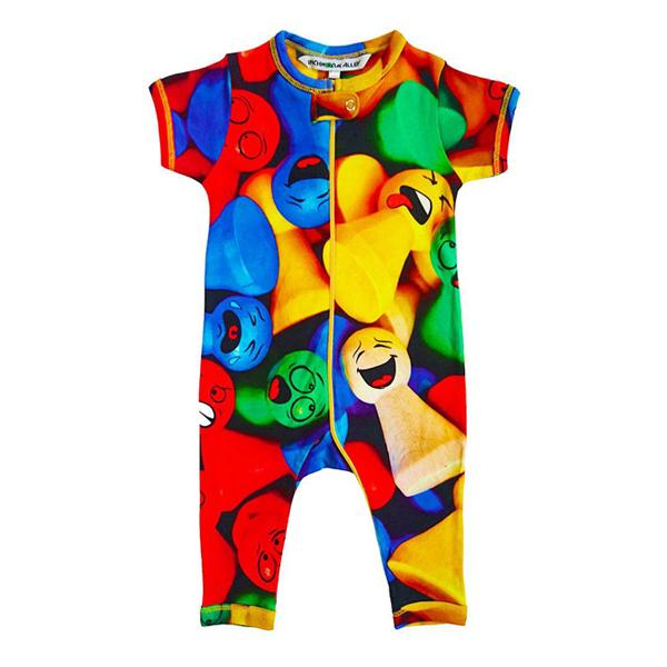 Inchworm Alley Organic Full Leg Romper - Game Pieces