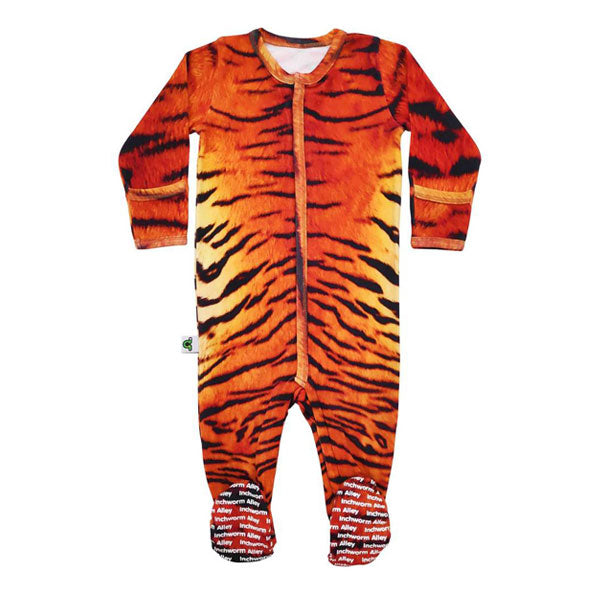 Inchworm Alley Organic Footie - Tiger