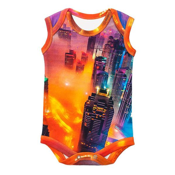 Inchworm Alley Organic Sleeveless Bodysuit - Dubai Fog