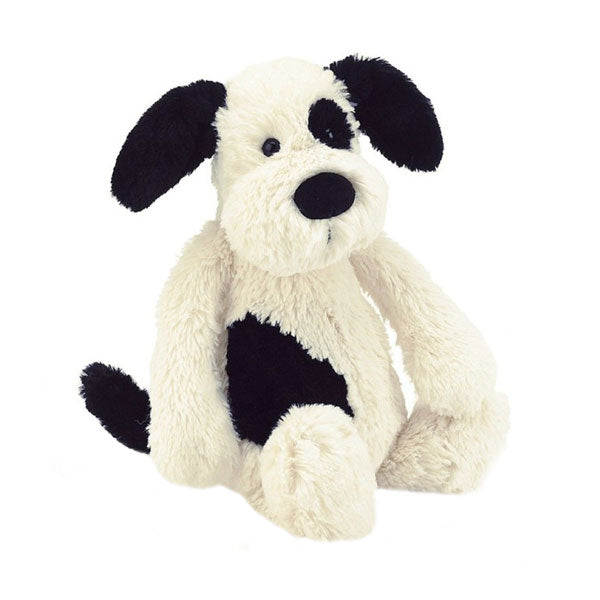 Jellycat Bashful Puppy Medium - Black and Cream