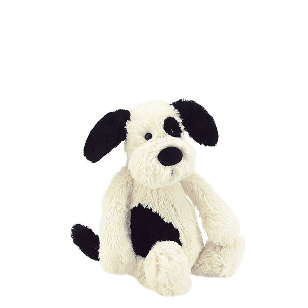 Jellycat Bashful Puppy Small - Black and Cream