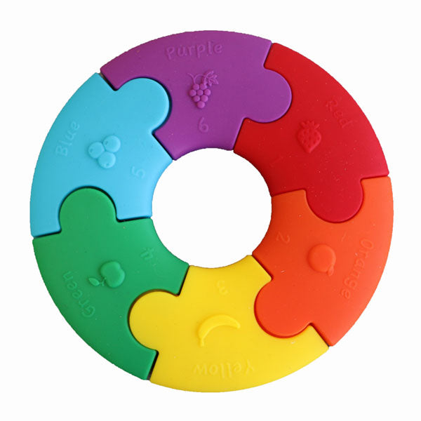 Jellystone Designs Colour Wheel Teether and Toy