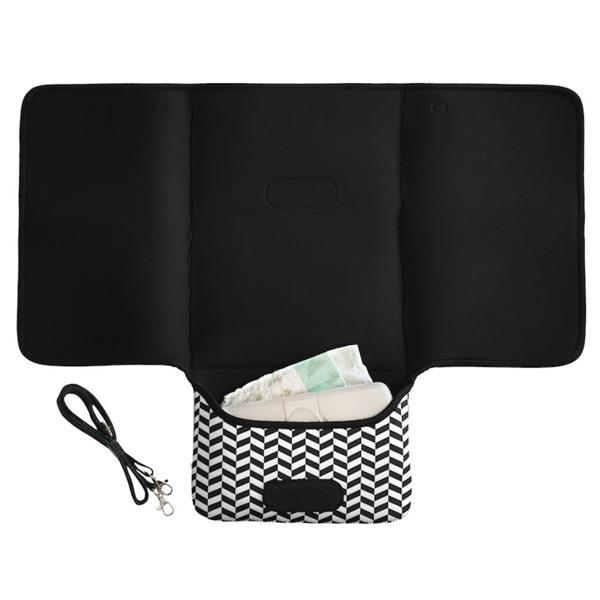 Jellystone Designs 2 in 1 Nappy Change Mat Clutch - Mono