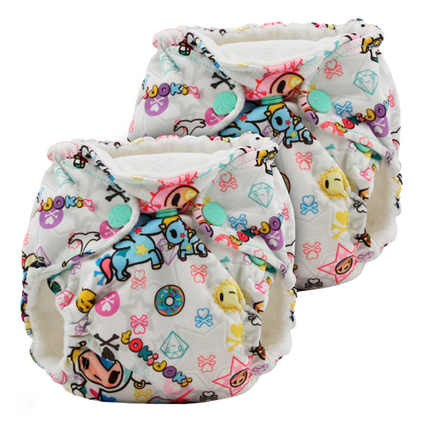 Kanga Care x Tokidoki Lil Joey AIO Cloth Nappies - tokiBambino 2pk