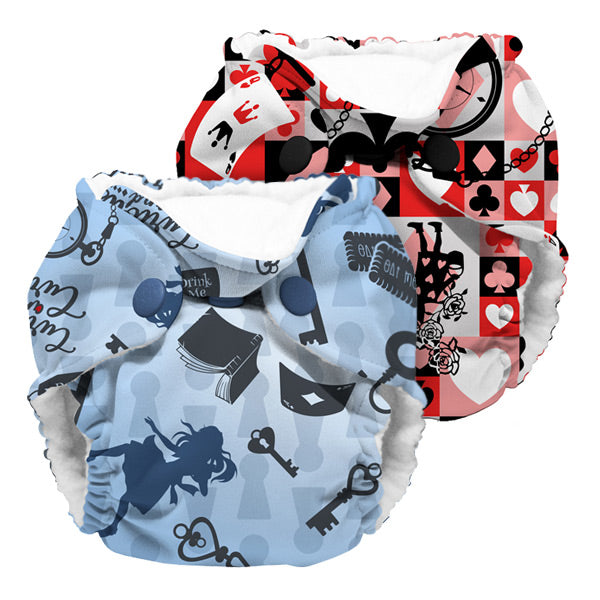 Kanga Care Wonderland Lil Joey AIO Cloth Nappies - Mixed 2pk - Alice & Queen of Hearts