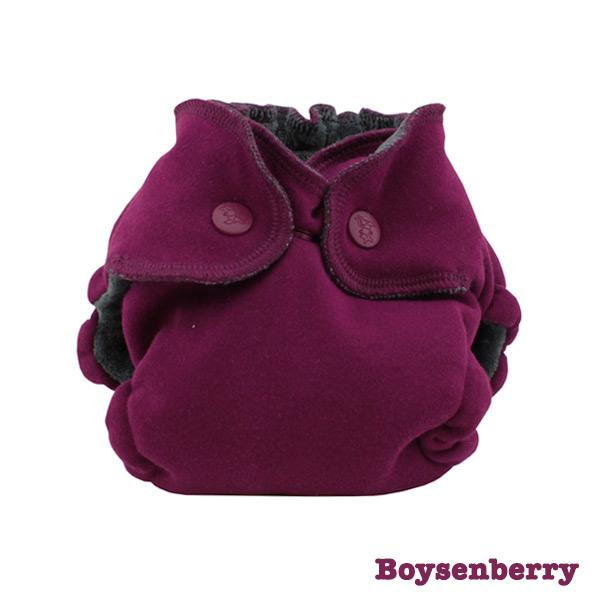 Kanga Care Ecoposh OBV Fitted Newborn Cloth Nappy - Boysenberry