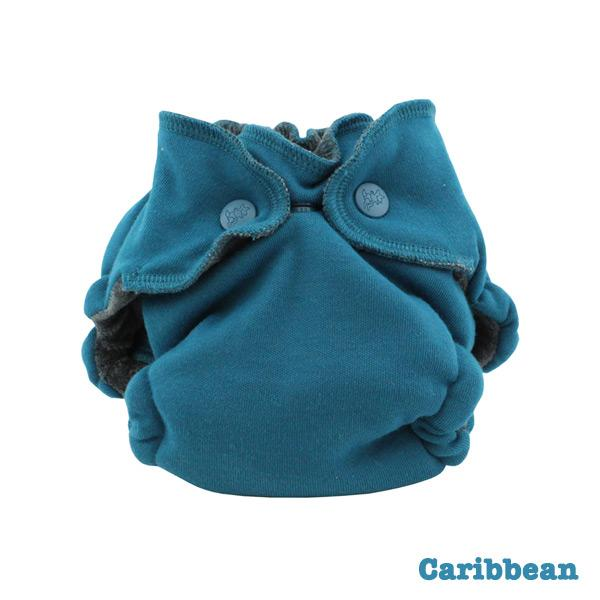 Kanga Care Ecoposh OBV Fitted Newborn Cloth Nappy - Caribbean