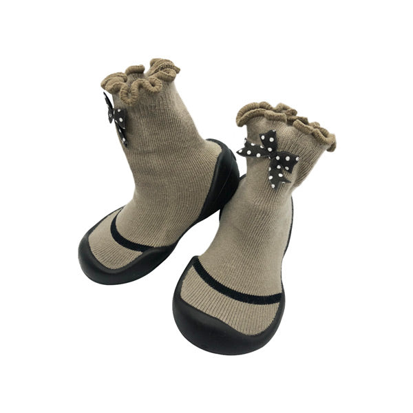 Komuello First Walker Shoes - Mary Dot Ribbon