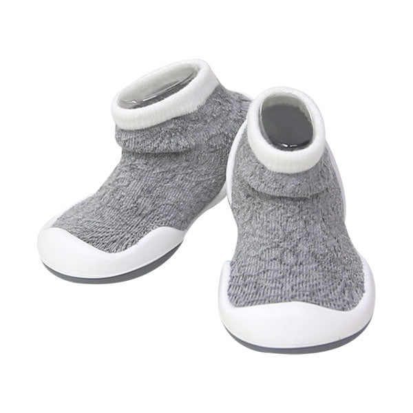 Komuello First Walker Shoes - Grey Mesh Sneakers