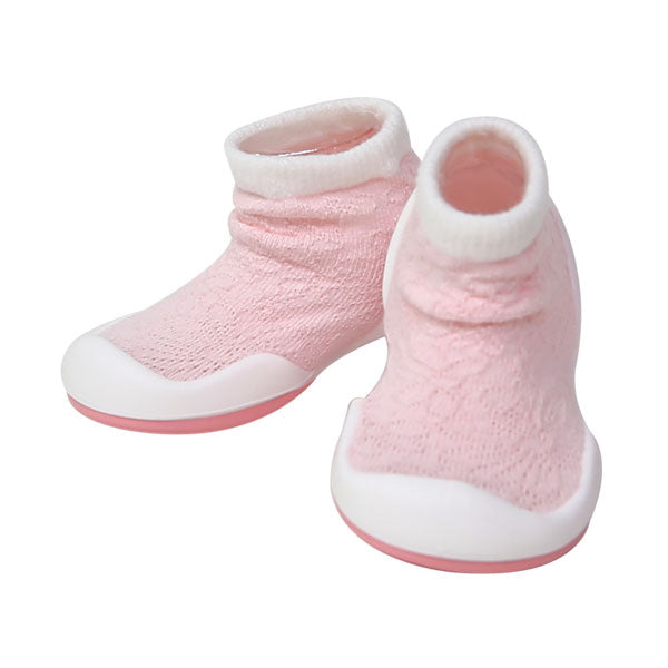 Komuello First Walker Shoes - Pink Mesh Sneakers