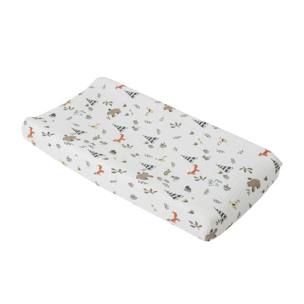 Little Unicorn Change Pad Cover / Bassinet Fitted Sheet - Forest Friends