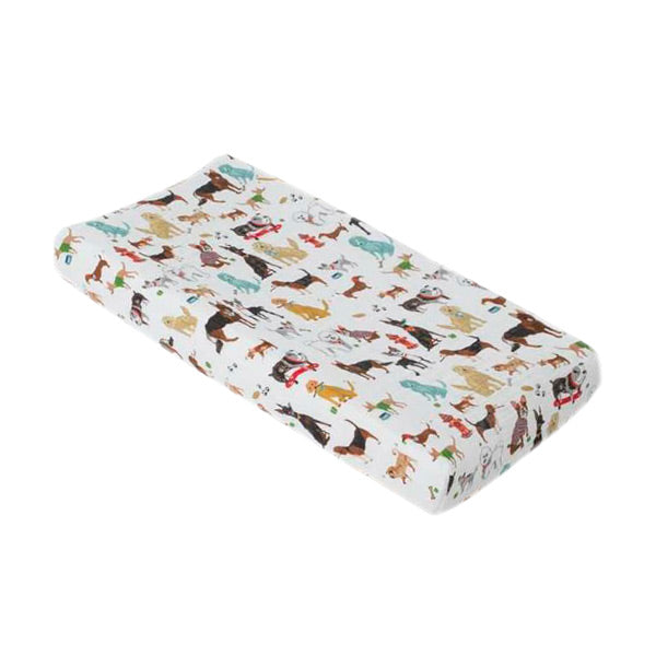 Little Unicorn Change Pad Cover / Bassinet Fitted Sheet - Woof