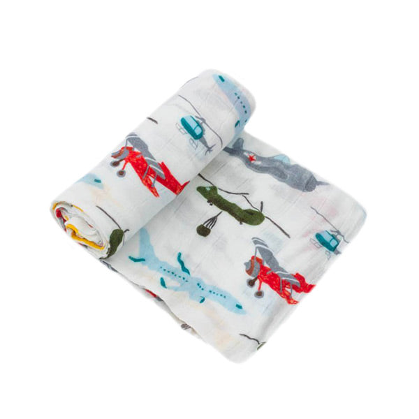 Little Unicorn Deluxe Muslin Swaddle Wrap - Airshow
